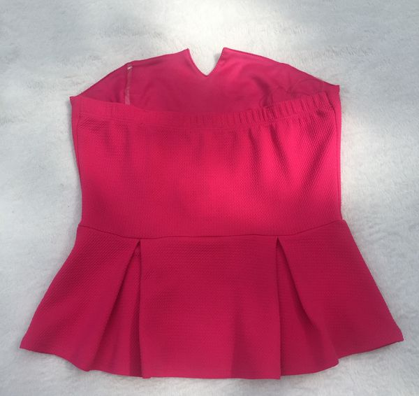 Soprano Hot Pink Strapless Top