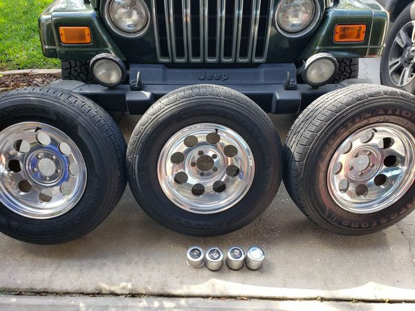 Jeep TJ 4 rims and tires