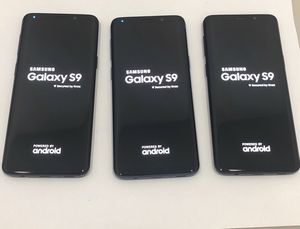 Lot of 3 Samsung S9 unlocked android Wi-Fi touchscreen phone for Sale in Manchester, MO