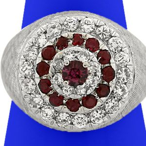 U1799 LADIES 18K GOLD DIAMOND RUBY RING ENGAGEMENT WEDDING BAND for Sale in Los Angeles, CA