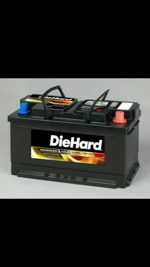 $80 TOMORROW ONLY! DIEHARD AGM BATTERY WORKS 100% PERFECT, PERIOD. for Sale in Alta Loma, CA