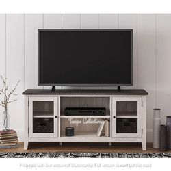 NEW, GRAY AND ANTIQUED WHITE COLOR, 60 inch TV STAND, SKU#TC287.gray and antiqued white color� for Sale in Huntington Beach,  CA