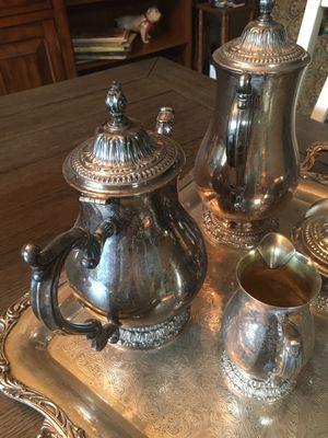 Vintage Wm Rogers 5 piece Silver Coffee Tea Service for Sale in Fresno, CA