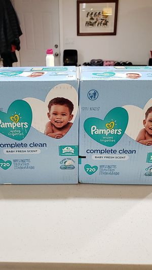 Pamper wipes 720 count x2 boxes. Price firm for Sale in Olympia, WA