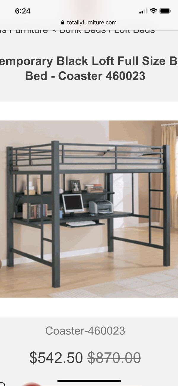 Full size bed over desk