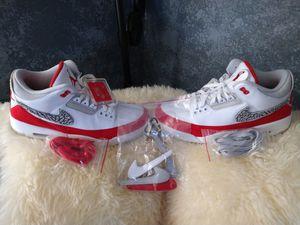 Brand New Jordan 3 Retro Tinker White/University Red, Size 11 for Sale in Phoenix, AZ