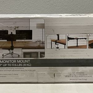"""ONN Full Motion Dual Monitor Arm, For Monitors 13"""" to 27"""" for Sale in Little Rock, AR"""