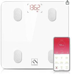 FITINDEX Bluetooth Body Fat Scale, Smart Wireless BMI Bathroom Weight Scale for Sale in Raleigh,  NC