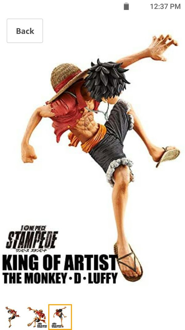 Banpresto One Piece Anime Series Stampede Movie King of Artist The Monkey D. Luffy Figure