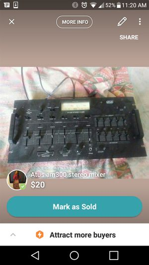 Atus stero mixer for Sale in Avon Park, FL