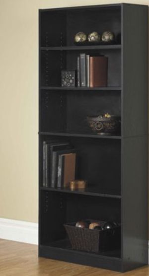 "New!! Bookcase, bookshelves, organizer, storage unit, 72"" 5 shelf bookcase, living room furniture, entrance furniture, shelving display , black for Sale in Phoenix, AZ"
