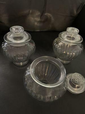 Glass jar with lid- candy for Sale in San Diego, CA