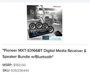 Pioneer Bluetooth Receiver w/ 4 Speakers for Sale in Belleville, IL