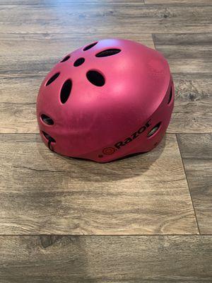 Big Kids Pink Razor Helmet - Size M for Sale in Germantown, MD