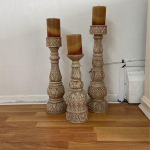 Pillar Candle Holder varied heights for Sale in Cedar Grove, NJ