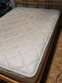 Ikea Full Bed Frame and Sealy Posturepedic Mattress for Sale in Vancouver,  WA