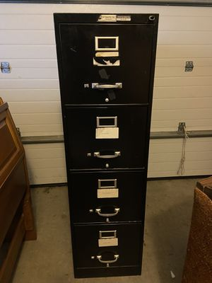Black filing cabinet 4 drawer for Sale in Spokane, WA