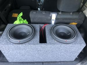 """Rockford Fosgate 10"""" P2 subwoofer with box for Sale in Stockton, CA"""