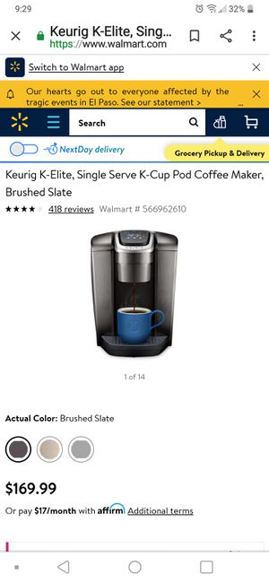 Keurig new K Elite coffee maker for Sale in Fresno, CA