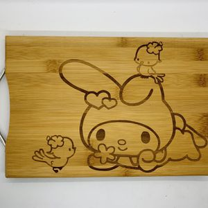 My melody laser engraved bamboo high quality cuttingboard valentines gift for Sale in Los Angeles, CA