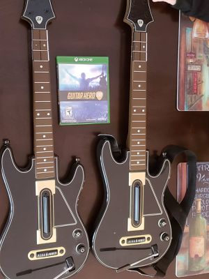 Guitar hero set with game for Sale in Gainesville, VA