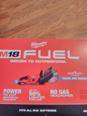 """Milwaukee M18 fuel one key tracking 9"""" cut off saw brand new tool only for Sale in Federal Way, WA"""