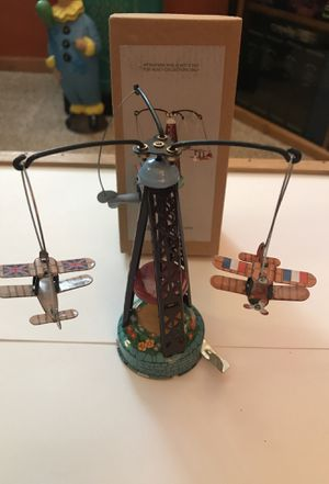 Collectible Rotating Bi Planes Wind Up Rotating Tin Toys w/ Key Home Decor for Sale in Eagle, WI