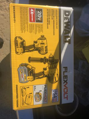 Dewalt flex volt drill/impact set (299$ at the store) for Sale in Wichita, KS