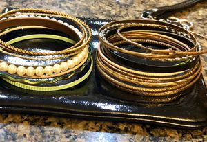 Lots of cute assorted bangle bracelets! All for $7. for Sale in Tolleson, AZ