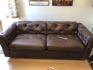 Chesterfield danish/teak sleeper sofa for Sale in Portland, OR