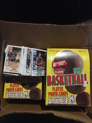 4000 plus 1990 fleer basketball cards for Sale in Corona, CA