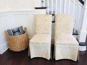 8 Scroll Back Parsons Chairs w/ kick pleat for Sale in Alexandria, VA