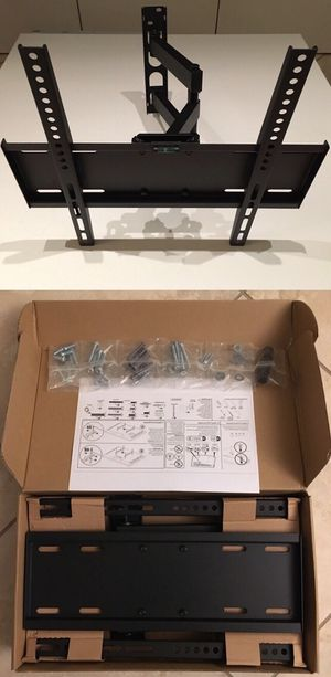 New in box Universal fits 22 to 55 inch tv swivel tilt full motion tv television wall mount bracket single arm for Sale in South El Monte, CA