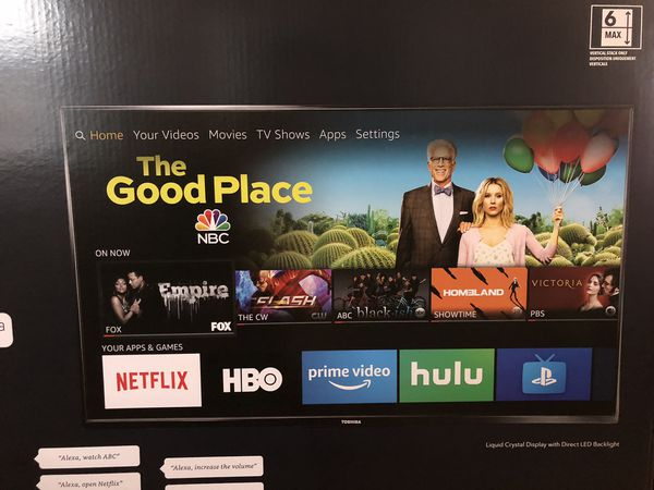 """TOSHIBA 43"""" Fire tv edition SMART 4K ULTRA HD with/voice remote with ALEXA $250"""