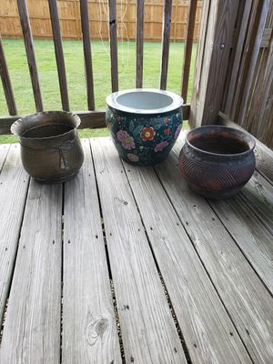 3 Large Flowerpots for Sale in Smyrna, TN