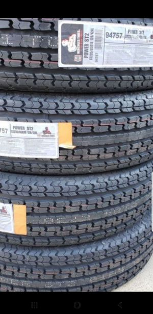 4 New ST-235/85/16 Hercules Trailer Tires Load F 12ply 95psi for Sale in Moreno Valley, CA