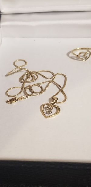 GOLD NECKLACE AND RING for Sale in Fairfax, VA