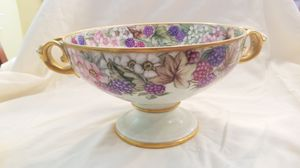 Rosenthal Antique Bowl w/ Flowers and Forest Fruits for Sale in Danville, CA