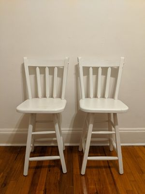 Two beautiful white wooden chairs! for Sale in Cleveland, OH