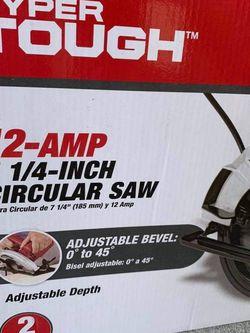 Hyper Tough 12 Amp 7-1/4 inch Circular Saw for Sale in San Diego,  CA