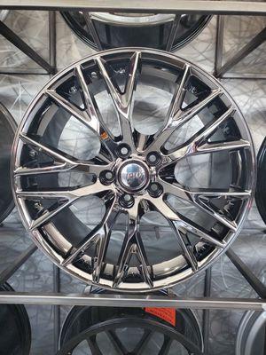 19x8.5 and 20x10 c6 c7 Corvette z06 rep wheels fits stingray and z51 black chrome rim wheel tire shop for Sale in Tempe, AZ