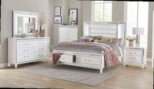 Queen bed frame. Dresser. Mirror and one night stand. Price firm. SZM for Sale in Ontario, CA