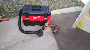 Milwaukee vacuum cleaner drill 18 volt battery 18 volt charger for Sale in San Diego, CA
