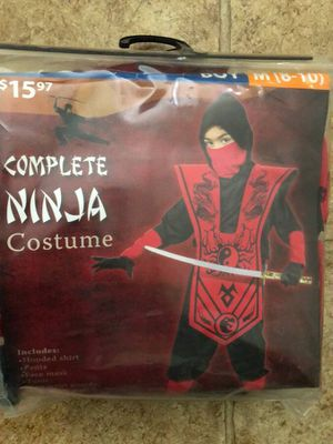 Halloween costume size 8-10! Ninja!!! for Sale in Indianapolis, IN