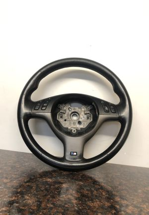 BMW E46 M3 Leather steering wheel with trim and buttons for Sale in Medford, MA