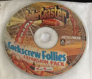 Roller coaster tycoon corkscrew follies expansion for PC for Sale in Houston, TX