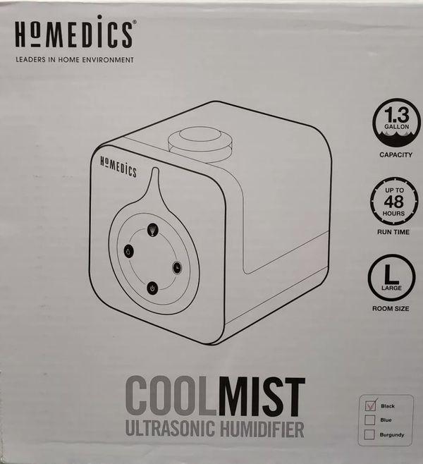 Homedics Ultrasonic Cool Mist Humidifier Uhe-cm55 Black