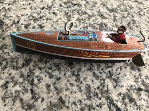 Tin Speedboat Schylling Wind Up Toy- Vintage Collectible for Sale in Cinnaminson, NJ