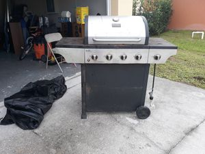 Cherbroil stainless steel bbq grill with side burner for Sale in Port St. Lucie, FL