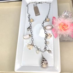 JJill seashell and pearl charm necklace for Sale in Manassas,  VA